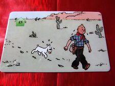 TRES RARE TELECARTE NEUVE - 5 Livres - Tintin au far west 5  - 500 exemplaires