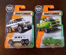 MATCHBOX METAL MERCEDES-BENZ G63 AMG 6X6 & VOLKSWAGEN TRANSPORTER W/TOOLS