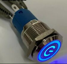 Interruttore a bilanciere 220V 16A bipolare luminoso arancione 12V switch 31x25