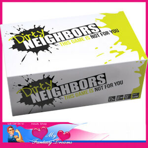 Dirty Neighbours Funny Card Game Lockdown Games interactive 4-10 People Naughty