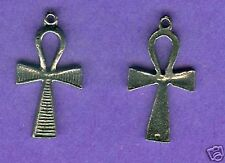 20 wholesale lead free pewter ahnk charms 1004