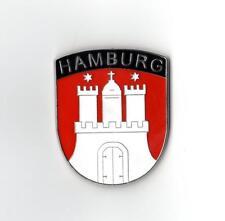 Calamita Amburgo STEMMA METALLO frigorifero magnete bacheca souvenir NUOVO GERMANY