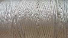 10 Metres of White Nylon Braided Cord Thread Twine (1.3mm 2mm 3mm 4mm and 6mm)