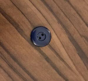 Button 4 hole plastic blue