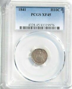 1841 H10C, Liberty Seated, Half Dime, PCGS XF45