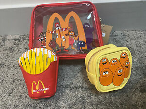 McDonald's x Boxlunch 3 Piece Makeup Cosmetic Bag - Boxlunch Exclusive - In Hand