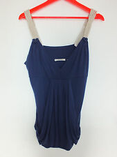 COUNTRY ROAD ROYAL BLUE ROPE NAUTICAL TANK Blouse Top Tunic SHIRT CAMISOLE  M