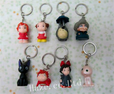 8pcs/set Studio Ghibli Totoro Spirited Away Kiki's Keychain Key Ring Great Gift