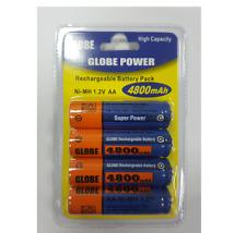 4x nueva potencia de Globo Baterías Recargables Aa 4800 mAh paquete de 4
