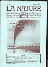 La Nature N° 2153 - Janvier 1915 - Revue des sciences -Les pétroles en Roumanie