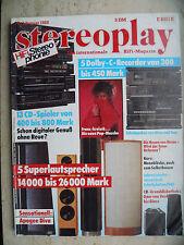 STEREOPLAY 1/88 Apoge Diva Signature, Beveridge 7,mbl 101 con sub 201,t+a TMR 120