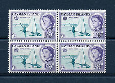 CAYMAN ISLANDS 1962 DEFINITIVES SG176 1s.9d. BLOCK OF 4 MNH