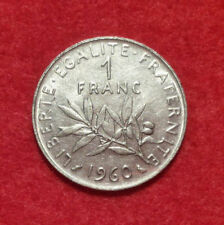 French / France Coin , 1 Franc 1960 , VF+ , KM# 925.1