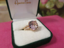Vintage Jewellery Gold Ring Pink & White Sapphires Art Deco Design 8  (35)