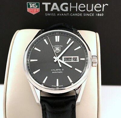 2017 Tag Heuer Carrera Calibre 5 Mens Watch Automatic Day Date Model WAR201A-