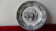 GIEN Ancienne assiette porcelaine.Jeanne d'Arc Charles VII. Antique plate