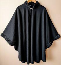80s 90s Vintage Cape Gothic Victorian Style Vampire Free Size Bavarian Black