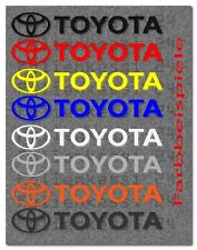 Toyota Logo 2 Aufkleber Decal Sticker Yaris Corolla Avensis Prius Toyo005