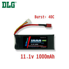 Genuine DLG RC Battery 11.1V 3S 20C 1000mAh Burst 40C Li-Po LiPo Dean's T plug