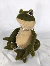 "Merrythought Frog Plush Stuffed Animal 10"""