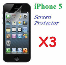 Apple iPhone 5 5G LCD Screen Protector Ultra Clear Film X 3