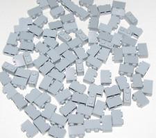 LEGO NEW LOT OF 100 1 x 2 LIGHT BLUISH GREY BLOCKS GRILLES GRILL PARTS