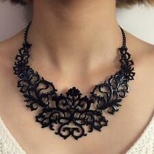 Tour de cou en métal noir baroque/ Glamour / Mode / Collier / Gothique