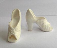 Mego Cher Farrah Fawcett Diana Ross Tennille white Doll shoes 1970s