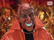 Rubber Red Devil Mask Demon Monster Halloween Fancy Dress