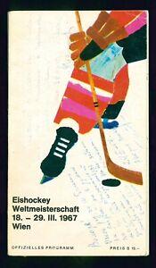 1967 Hockey guide to WC1967 in Vien signed by Tarasov, Bobrov, Chernyshov more