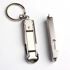 Multitool Flaschenöffner faltbare Nagelknipser Schere Keychain Camping Werkzeug.