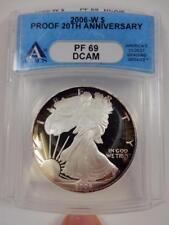 2006-W American Silver Eagle, ANACS PF69 DCAM, 20th Anniv., Proof,  #B108
