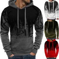 Warm Mens Hooded Coat Fleece Pullover Casual Hoodie Sport Tops Jacket Sweatshirt