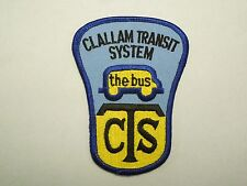 Vintage Clallam Transit System CTW the Bus Iron On Patch