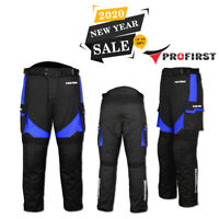 Mens Waterproof Motorbike Motorcycle Trouser Pent Gears CE Armoured Lined - Blue