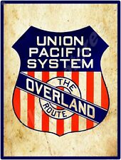 """UNION PACIFIC SYSTEM 9"""" x 12"""" METAL SIGN"""