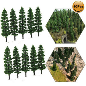 40pcs Railway Layout 1:75 1:87 Model Train Green Trees HO OO Scale 90mm TC90