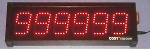 """6 Digit Industrial Production Counter Display - 2.3"""" High LED Digits"""