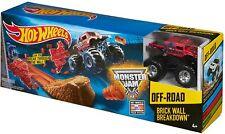 Hot Wheels Monster Jam Brick Wall Breakdown Set Boys Toys