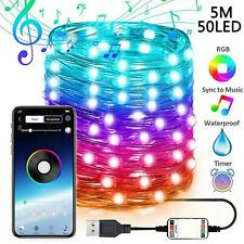 Christmas Tree LED Lights Smart Bluetooth Phone String Lights Xmas Party Decor
