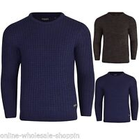Brave Soul Mens Sweatshirt Round Neck Winter Knitted Jumper Pullover Warm Shirt
