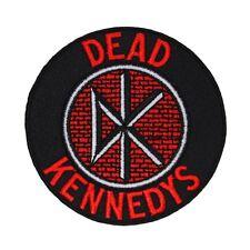 "DK ""Dead Kennedys"" Circular Brick Logo Patch Hardcore Punk Band Iron-On Applique"