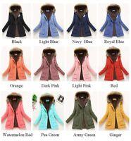Women Winter Jacket Parka Coat Warm Hooded Windproof Fur Trench Basic Outwear US