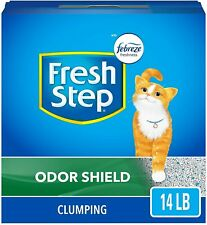Fresh Step Odor Shield Scented Litter with The Power of Febreze, Clumping Cat