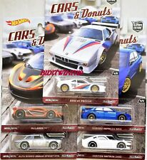 HOT WHEELS 2017 CAR CULTURE CARS DONUTS SET OF 5 DATSUN SUBARU