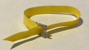 Vintage Barbie Skipper Yellow Vinyl Belt with Buckle