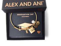 Alex and Ani Graduation Cap 2018 Bangle Bracelet Rafaelian Gold NWTBC