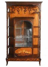 Vitrine marquetée Art Nouveau