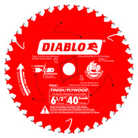 DIABLO 6‑1/2 in. x 40 Tooth Finish Trim Saw Blade (D0641)