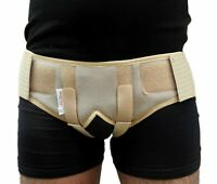 Medical inguinal hernia support belt with double truss brace removable S/M/L/XL